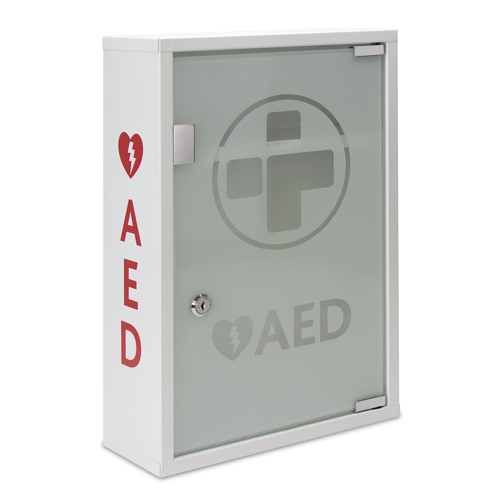 AED Metal Wall Cabinet with Glass Door | Mediana